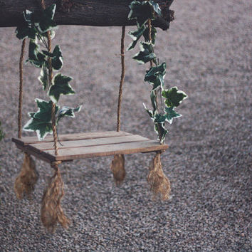 Rustic Swing Prop - newborn photography prop, outdoor swing prop, wooden photo props