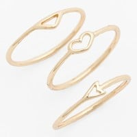 BP. Charm Midi Rings (Set of 3) (Juniors)