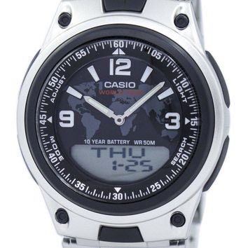 Casio World Time Databank Analog Digital AW-80D-1A2V AW80D-1A2V Men's Watch