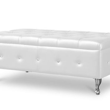 Baxton Studio Brighton White Bedroom Bench Set of 1