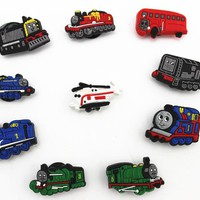 20 Pcs PVC Thomas & Friends Shoe accessories Shoe Charms Shoe Decorations  for Croc Bracelet Wristband Kid Gift