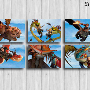 how to train your dragon poster set of 6 dragon print set kids gift