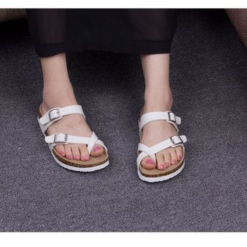 Soft Korean Couple Shoes Beach Summer Flat Slippers [11192795655]