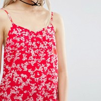 ASOS Cami in Red Ditsy Floral at asos.com