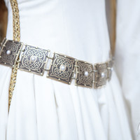 "Brass Women's Etched Belt ""The Accolade"""