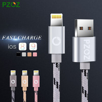 PZOZ Lighting Cable Fast Charger Adapter Original USB Cable For iphone 6 s plus i6 i5 iphone 5 5s ipad air 2 Mobile Phone Cables