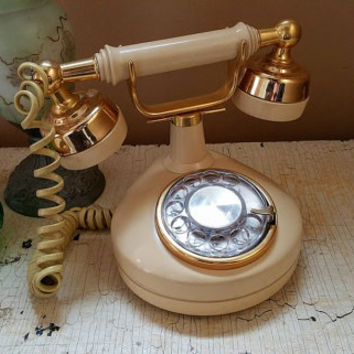 Vintage French Phone  Rotary Phone Western Electric Celebrity Working Analog Phone