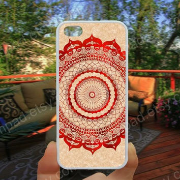red gallery mandala iphone 4/4s case iphone 5/5s/5c case samsung galaxy s3/s4 case galaxy S5 case Waterproof gift case 449