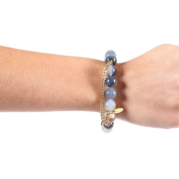 Chain Link Bracelet - Grey Blue