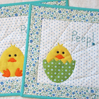 Quilted Snack Mats Peeps/Placemats/Spring Mats/Spring/Peeps