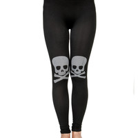 Black and White Skull Leggings
