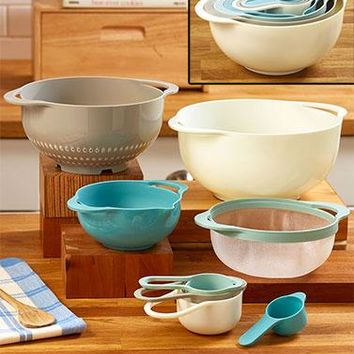 8 Piece Mix & Storage Bowl Set, Mixing Bowls and Measuring Cups Set