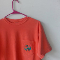 Monogrammed Pocket Tee Short Sleeve - Comfort Colors