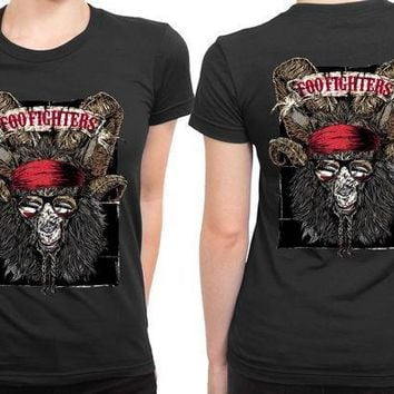 Foo Fighters Goat Monster 2 Sided Womens T Shirt