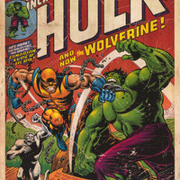 Incredible Hulk #181 vs Wolverine Marvel Comics Poster 24x36