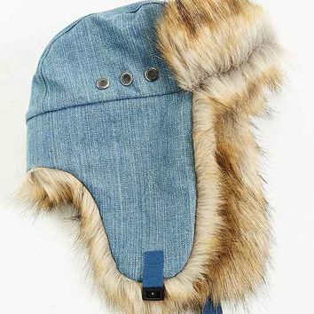 Rosin Washed Denim Trapper Hat