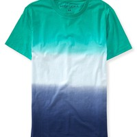 Aeropostale Mens Double Dip-Dye T-Shirt - Green,