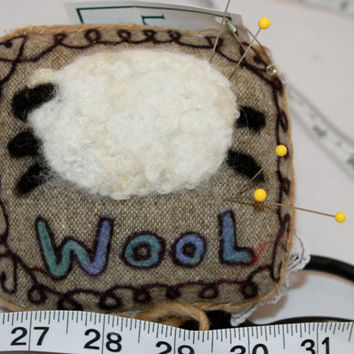 Sheep Needle felted Sheep Pin Cushion