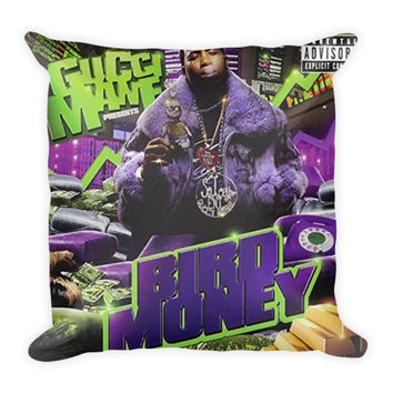 Bird Money (16x16) All Over Print/Dye Sublimation Gucci Mane Couch Throw Pillow Insert & Pillow Case/Cover