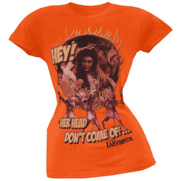 Labyrinth - Head Don't Come Off Juniors T-Shirt