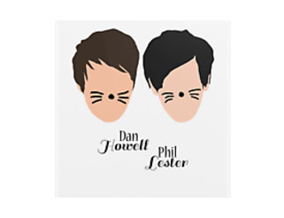 Dan Howell and Phil Lester (with text)