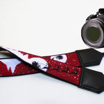 Christmas Camera Strap. DSLR / SLR Camera Strap. Camera accessories. Christmas gift. Strap for Canon, Nikon, Fuji, Sony and other cameras.