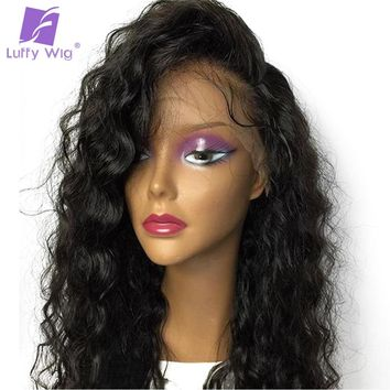 Glueless Silk Base Full Lace Wigs Human Hair With Baby Hair Pre Plucked Hairline Brazilian Non Remy Hair Loose Wave
