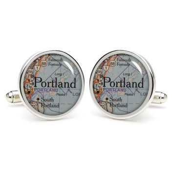 Portland   cufflinks , wedding baby shower gifts for dad,personalized gifts for dad,great gift ideas for men,groomsmen cufflinks,