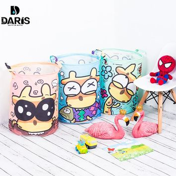 SDARISB Waterproof Toy Storage Bag Box Organizer Large Laundry Basket Bag Kids Storage Basket For Toys Dirty Clothes Sundries