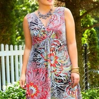 Women's Plus Size Cover Ups - Always For Me Cover Floral Twist Dress