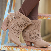 NAUGHTY MONKEY Lyrics Booties - Taupe
