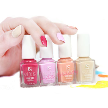 Nail Polish 4PCS/SET Quick Dry Grind 6ML Hot UV Nail Polish Colorful Nail Art Print Long Lasting