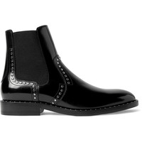 Jimmy Choo - Fergus Studded Polished-Leather Chelsea Boots