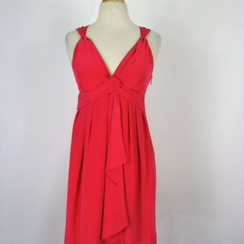 Banana Republic Silk Grecian Style Draped Cocktail Dress 2P
