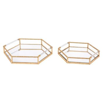 Golden Trays Gold (Set of 2)