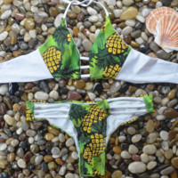 Pineapple Print Women's Two Piece Bikini Swimwear