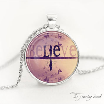 BELIEVE PENDANT Inspirational Pendant Believe Necklace  Believe Necklace Religious Inspirational Gift Jewelry