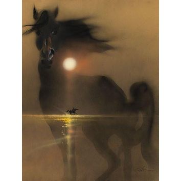 Black Stallion Movie poster Metal Sign Wall Art 8in x 12in