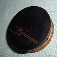 Art Deco Max Factor Rouge Carmine Compact Society Make-Up Hollywood