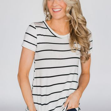 Back to the Basics Striped Top