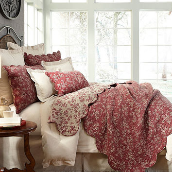 Villa by Noble Excellence Chatham Red Floral Quilt Mini Set | Dillards