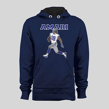 AMARI COOPER #19 FLY ROUTE OLDSKOOL CUSTOM ART DALLAS FOOTBALL HOODIE /SWEATER