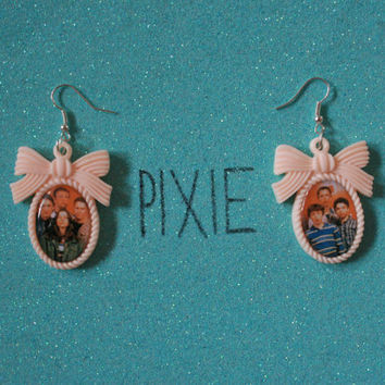 Freaks and Geeks couple earrings by PIXIEandPIXIER on Etsy