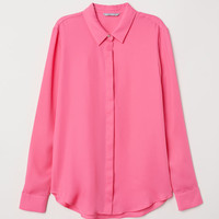 Long-sleeved blouse - Pink - Ladies | H&M GB