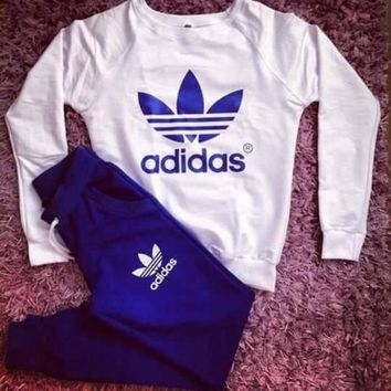 shosouvenir£ºAdidas:Sleeve Shirt Sweater Pants Sweatpants Set Two-Piece Sportswear