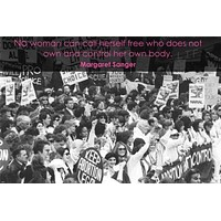 WOMEN'S RIGHTS PROTEST motivational quote poster 24X36 INSPIRING FREEDOM