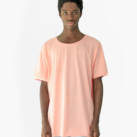 Basic Straight-Bottom Short Sleeve Tee in Pale Salmon