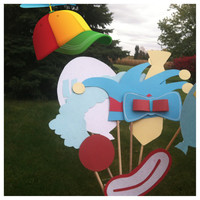 Circus clown photo booth props