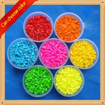 400pcs/box 5MM HIGHGRADE hama beads perler beads variety of colors foodgrade hama fuse beads Kids Education Diy PUPUKOU