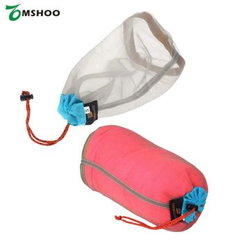 Ultralight Drawstring Mesh Stuff Sack Storage Outdoor Bag for Tavelling Camping Hike Climbing Laundry Cloth Pouch Travel Kits